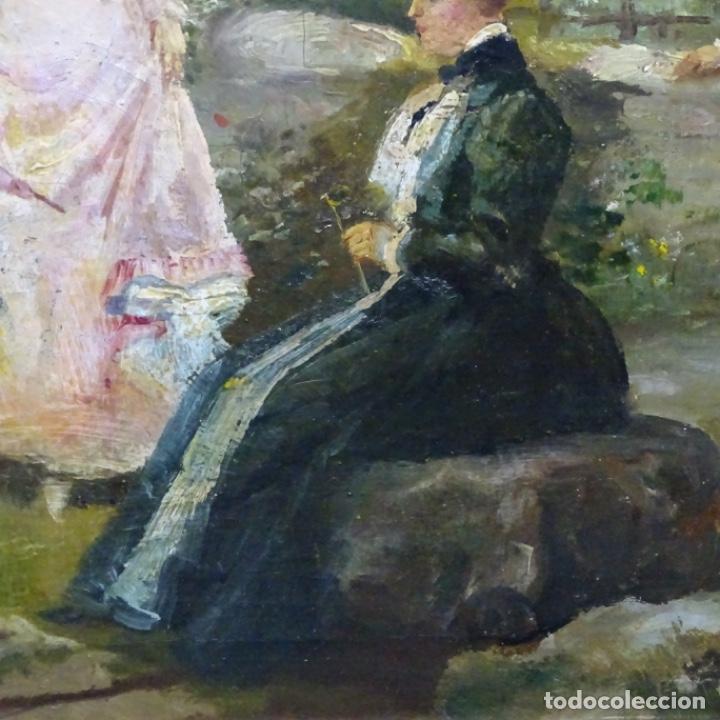 Arte: Excelente óleo sobre tela De Francisco miralles i galup(valencia 1848-1901).pieza de museo. - Foto 13 - 189970271