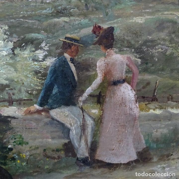 Arte: Excelente óleo sobre tela De Francisco miralles i galup(valencia 1848-1901).pieza de museo. - Foto 14 - 189970271