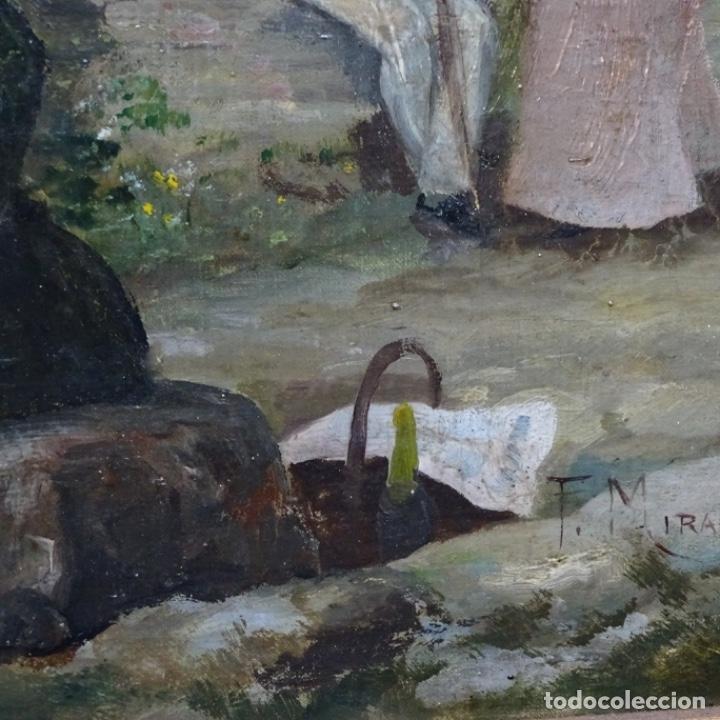 Arte: Excelente óleo sobre tela De Francisco miralles i galup(valencia 1848-1901).pieza de museo. - Foto 15 - 189970271