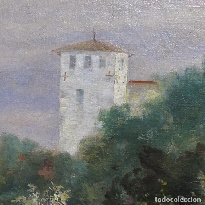 Arte: Excelente óleo sobre tela De Francisco miralles i galup(valencia 1848-1901).pieza de museo. - Foto 16 - 189970271