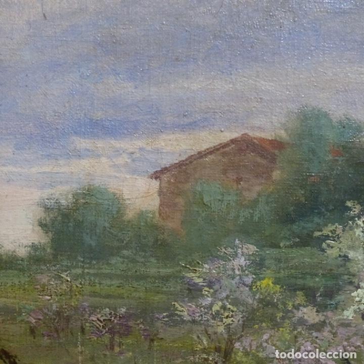 Arte: Excelente óleo sobre tela De Francisco miralles i galup(valencia 1848-1901).pieza de museo. - Foto 17 - 189970271