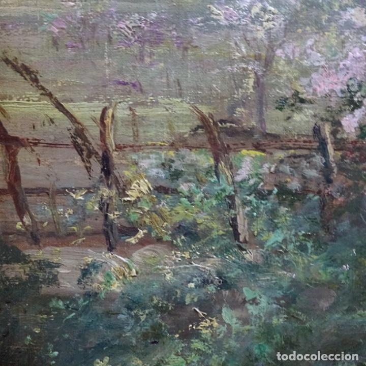 Arte: Excelente óleo sobre tela De Francisco miralles i galup(valencia 1848-1901).pieza de museo. - Foto 18 - 189970271