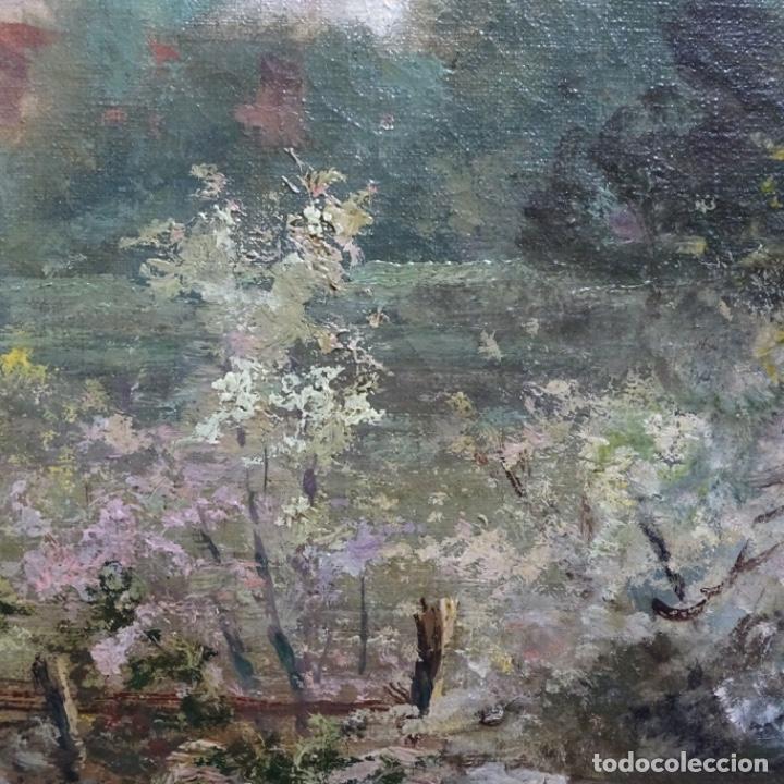 Arte: Excelente óleo sobre tela De Francisco miralles i galup(valencia 1848-1901).pieza de museo. - Foto 19 - 189970271