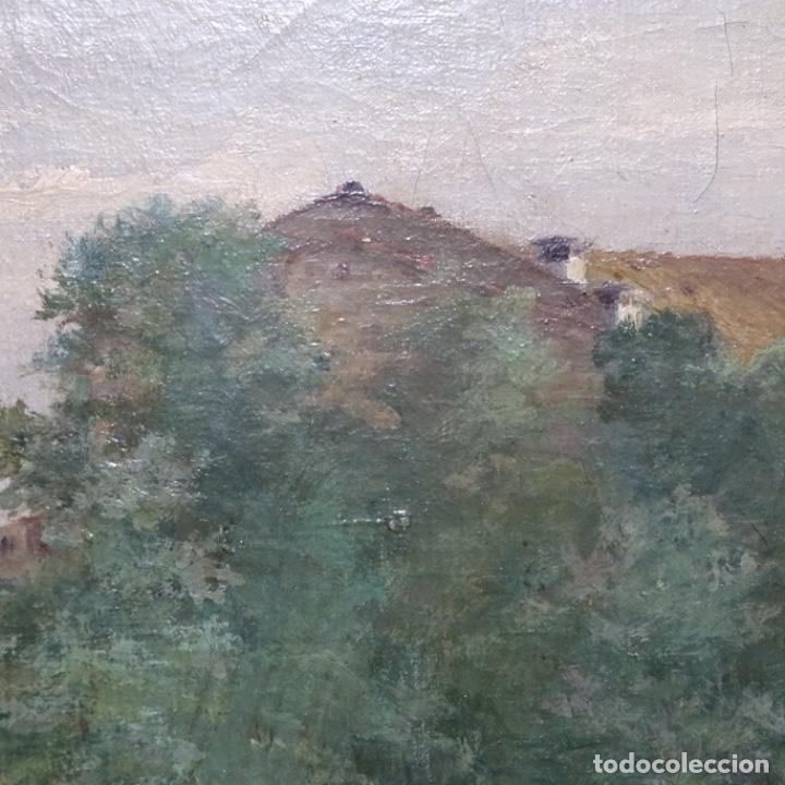 Arte: Excelente óleo sobre tela De Francisco miralles i galup(valencia 1848-1901).pieza de museo. - Foto 20 - 189970271
