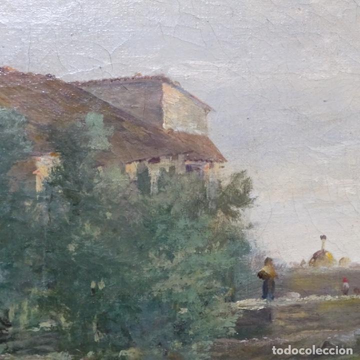 Arte: Excelente óleo sobre tela De Francisco miralles i galup(valencia 1848-1901).pieza de museo. - Foto 21 - 189970271