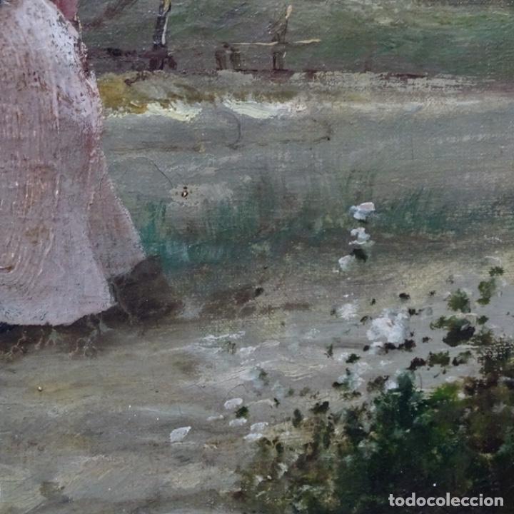 Arte: Excelente óleo sobre tela De Francisco miralles i galup(valencia 1848-1901).pieza de museo. - Foto 22 - 189970271