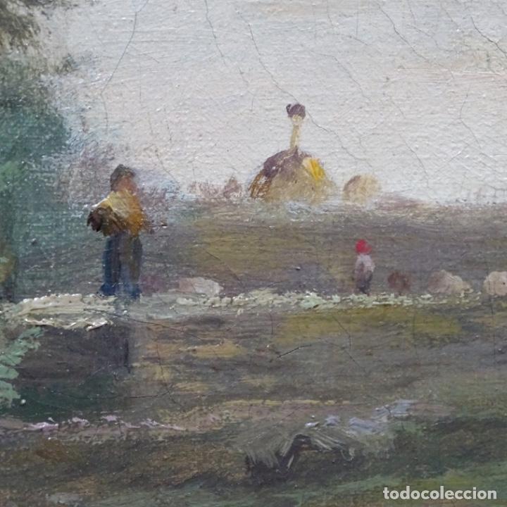 Arte: Excelente óleo sobre tela De Francisco miralles i galup(valencia 1848-1901).pieza de museo. - Foto 23 - 189970271