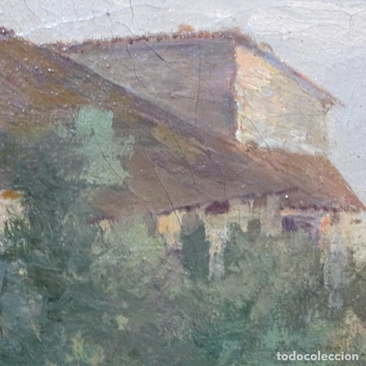 Arte: Excelente óleo sobre tela De Francisco miralles i galup(valencia 1848-1901).pieza de museo. - Foto 24 - 189970271