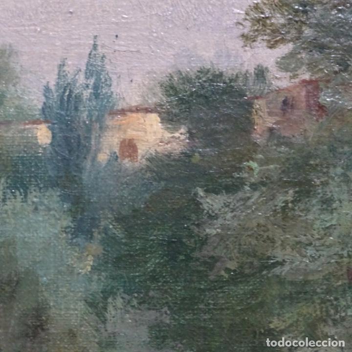 Arte: Excelente óleo sobre tela De Francisco miralles i galup(valencia 1848-1901).pieza de museo. - Foto 25 - 189970271