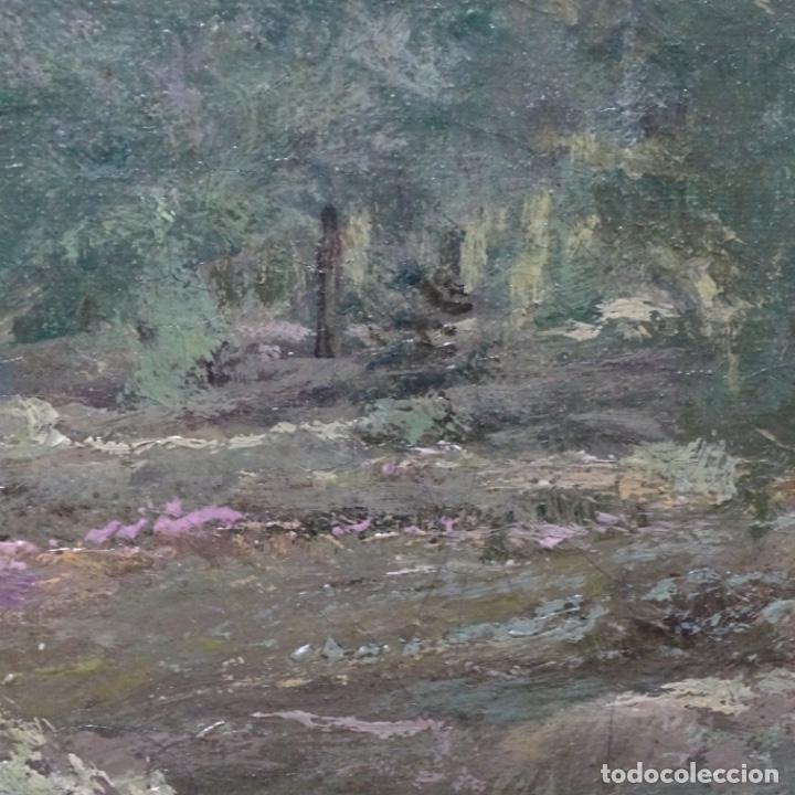 Arte: Excelente óleo sobre tela De Francisco miralles i galup(valencia 1848-1901).pieza de museo. - Foto 26 - 189970271