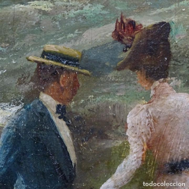 Arte: Excelente óleo sobre tela De Francisco miralles i galup(valencia 1848-1901).pieza de museo. - Foto 27 - 189970271