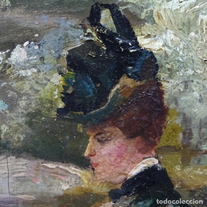 Arte: Excelente óleo sobre tela De Francisco miralles i galup(valencia 1848-1901).pieza de museo. - Foto 29 - 189970271
