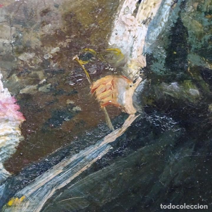Arte: Excelente óleo sobre tela De Francisco miralles i galup(valencia 1848-1901).pieza de museo. - Foto 30 - 189970271