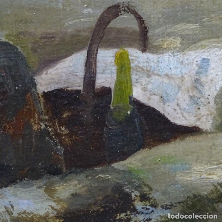 Arte: Excelente óleo sobre tela De Francisco miralles i galup(valencia 1848-1901).pieza de museo. - Foto 31 - 189970271