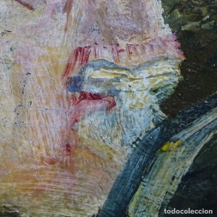 Arte: Excelente óleo sobre tela De Francisco miralles i galup(valencia 1848-1901).pieza de museo. - Foto 32 - 189970271