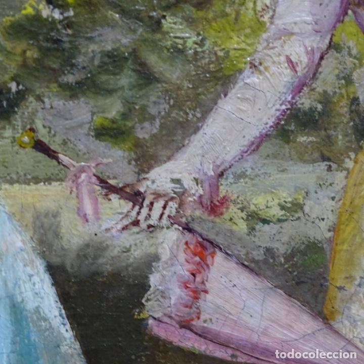 Arte: Excelente óleo sobre tela De Francisco miralles i galup(valencia 1848-1901).pieza de museo. - Foto 33 - 189970271
