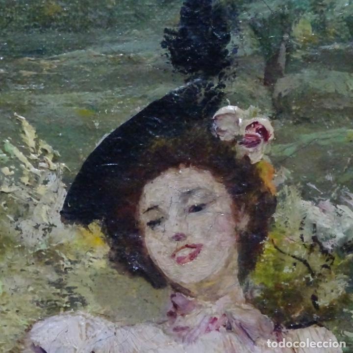 Arte: Excelente óleo sobre tela De Francisco miralles i galup(valencia 1848-1901).pieza de museo. - Foto 34 - 189970271