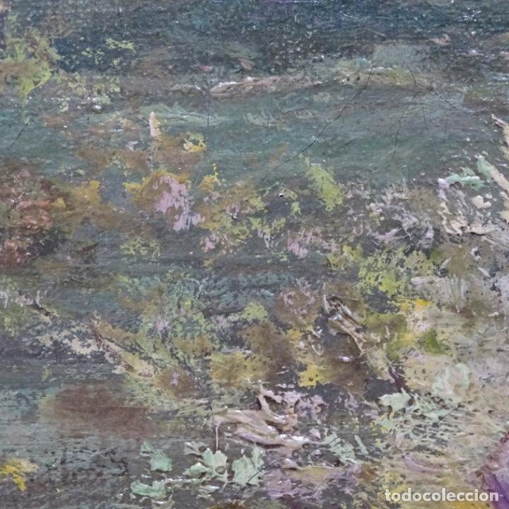 Arte: Excelente óleo sobre tela De Francisco miralles i galup(valencia 1848-1901).pieza de museo. - Foto 35 - 189970271