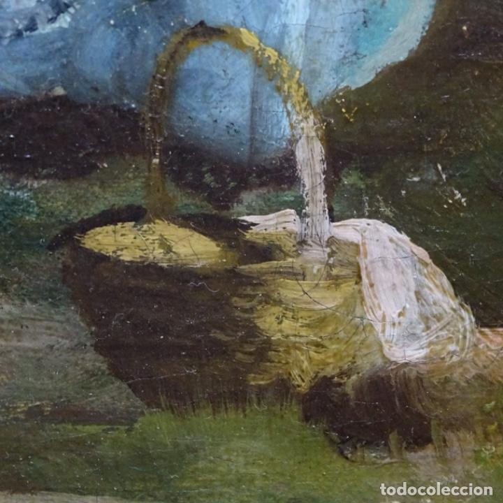 Arte: Excelente óleo sobre tela De Francisco miralles i galup(valencia 1848-1901).pieza de museo. - Foto 36 - 189970271