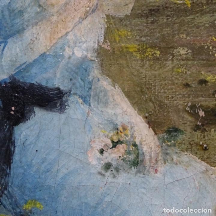 Arte: Excelente óleo sobre tela De Francisco miralles i galup(valencia 1848-1901).pieza de museo. - Foto 37 - 189970271