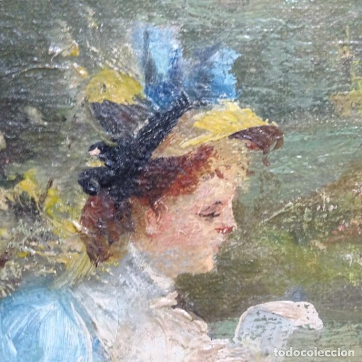 Arte: Excelente óleo sobre tela De Francisco miralles i galup(valencia 1848-1901).pieza de museo. - Foto 38 - 189970271