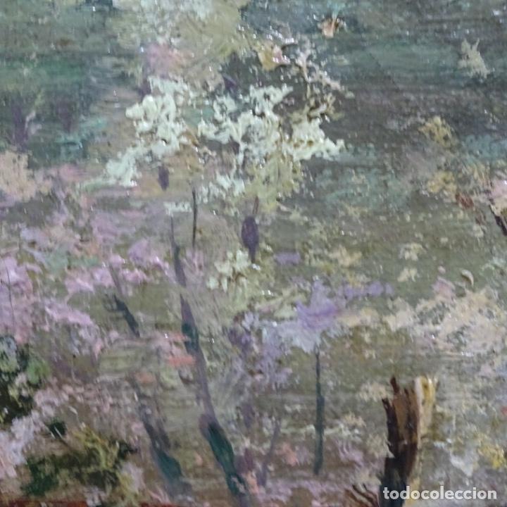 Arte: Excelente óleo sobre tela De Francisco miralles i galup(valencia 1848-1901).pieza de museo. - Foto 39 - 189970271