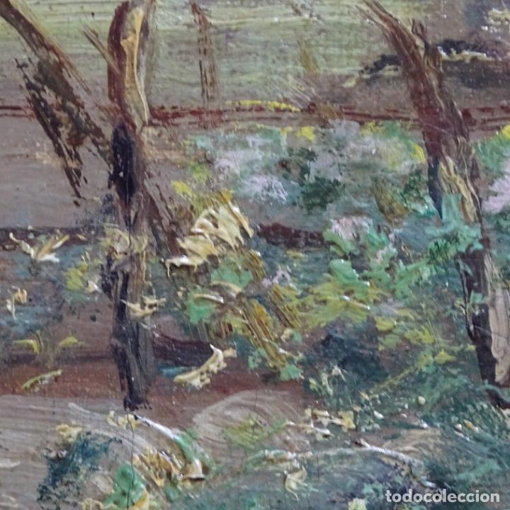 Arte: Excelente óleo sobre tela De Francisco miralles i galup(valencia 1848-1901).pieza de museo. - Foto 40 - 189970271