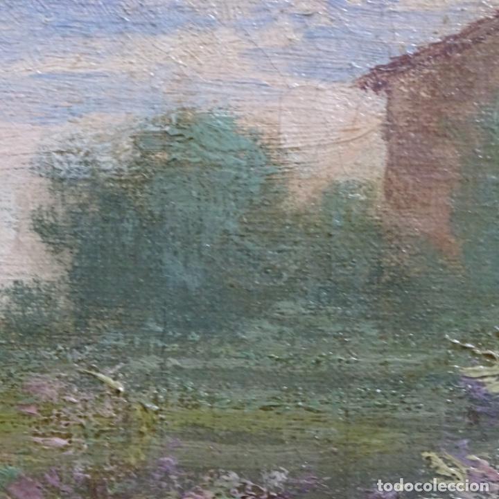 Arte: Excelente óleo sobre tela De Francisco miralles i galup(valencia 1848-1901).pieza de museo. - Foto 41 - 189970271
