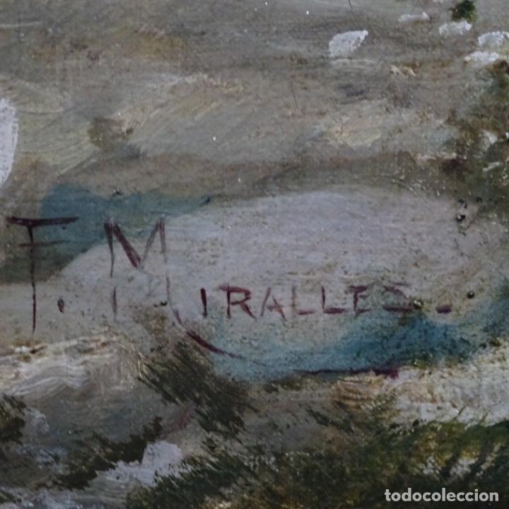 Arte: Excelente óleo sobre tela De Francisco miralles i galup(valencia 1848-1901).pieza de museo. - Foto 42 - 189970271