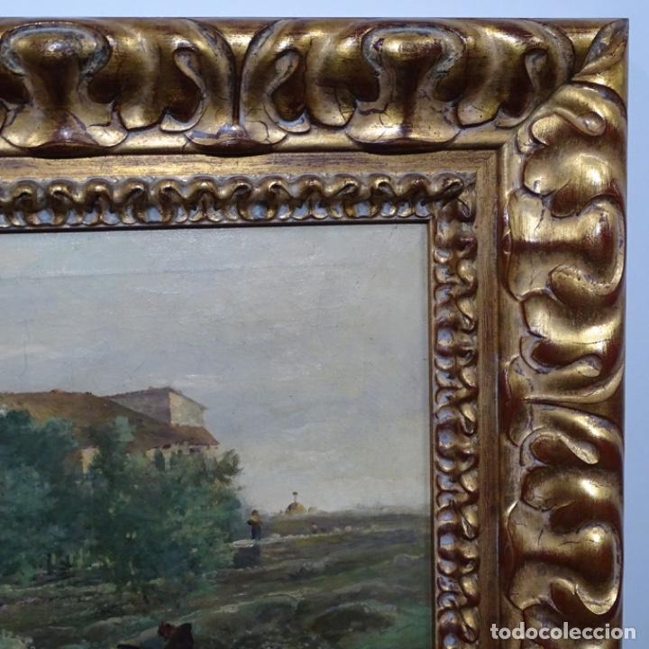 Arte: Excelente óleo sobre tela De Francisco miralles i galup(valencia 1848-1901).pieza de museo. - Foto 43 - 189970271