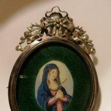 Arte: MINIATURA DE VIRGEN DOLOROSA ESCUELA FLAMENCA. Lote 189971966