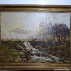 Arte: GRAN ÓLEO SOBRE TELA DE FRANCESC GIMENO ARASA.PIEZA DE MUSEO.ENMARCADO EN PETRITXOL 8 BCN.. Lote 189973608