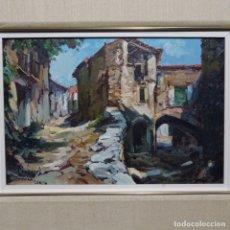 Arte: OLEO SOBRE TABLEX DE MIQUEL CARBONELL MARTORELL.GUIMERA(LLEIDA).BIEN ENMARCADO EN ROBLE.. Lote 189974352