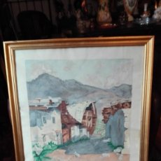 Arte: PAISAJE DE EL FERROL 1952 FIRMADO MENENE.. Lote 189995996