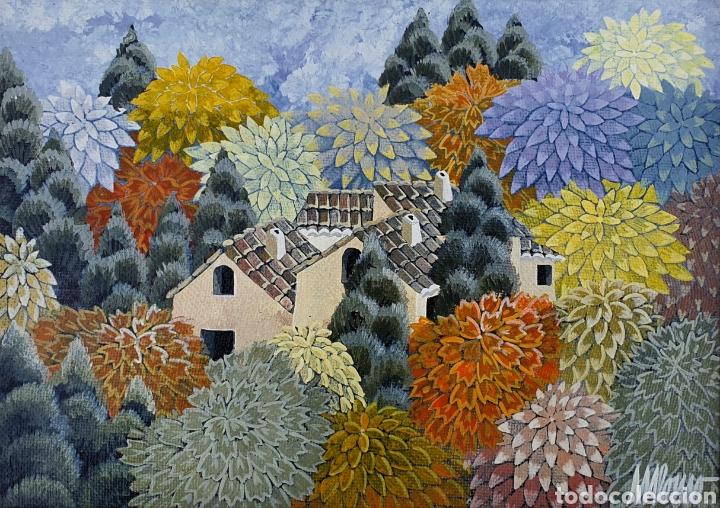 MARIBEL ALONSO (CANTABRIA 1946), PEQUEÑA Y PRECIOSA PINTURA ORIGINAL FIRMADA. (Arte - Pintura - Pintura al Óleo Contemporánea )