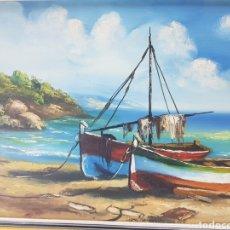 Arte: MARINA DE PESCADORES POR FARRES I SERRA. Lote 190085012