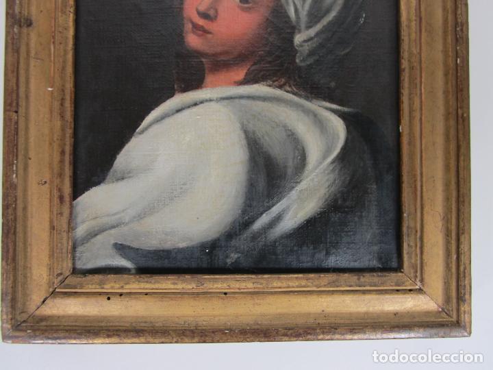 Arte: Retrato Beatrice Cenci - Guido Reni - Óleo sobre Tela - Proviene del Castillo de San Denis, Francia - Foto 2 - 221984443