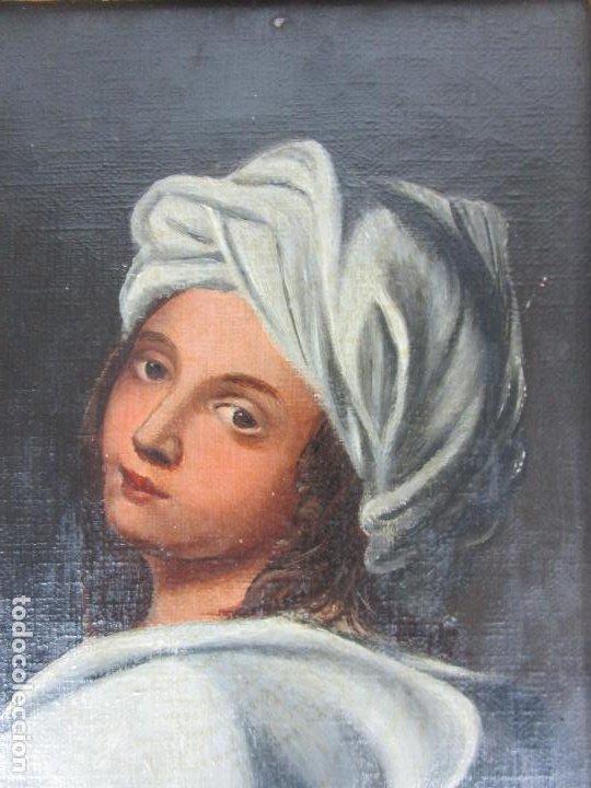 Arte: Retrato Beatrice Cenci - Guido Reni - Óleo sobre Tela - Proviene del Castillo de San Denis, Francia - Foto 3 - 221984443