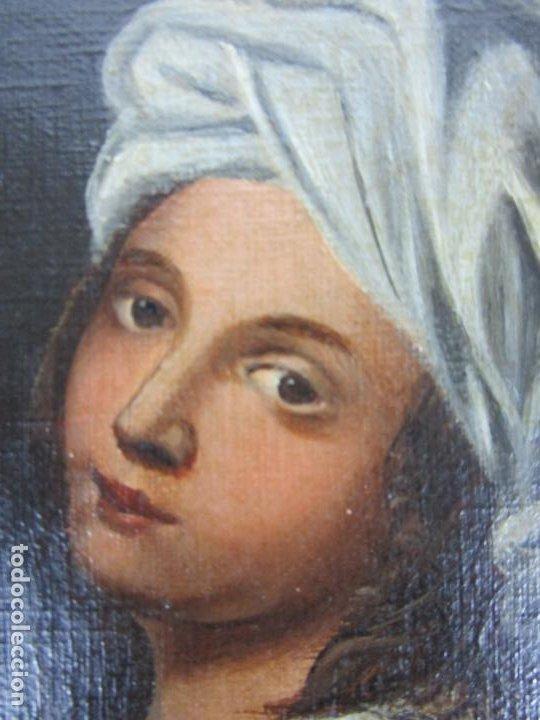 Arte: Retrato Beatrice Cenci - Guido Reni - Óleo sobre Tela - Proviene del Castillo de San Denis, Francia - Foto 4 - 221984443