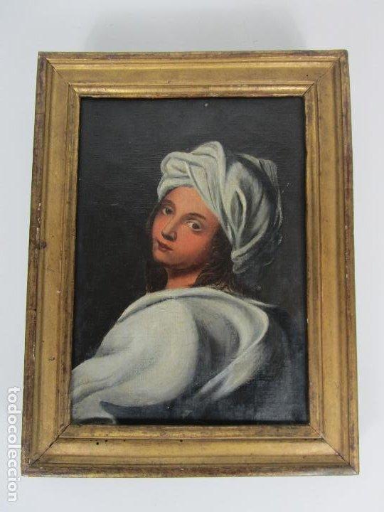 Arte: Retrato Beatrice Cenci - Guido Reni - Óleo sobre Tela - Proviene del Castillo de San Denis, Francia - Foto 5 - 221984443