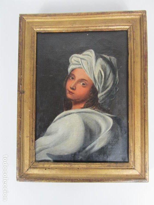 RETRATO BEATRICE CENCI - GUIDO RENI - ÓLEO SOBRE TELA - PROVIENE DEL CASTILLO DE SAN DENIS, FRANCIA (Arte - Pintura - Pintura al Óleo Antigua siglo XVIII)