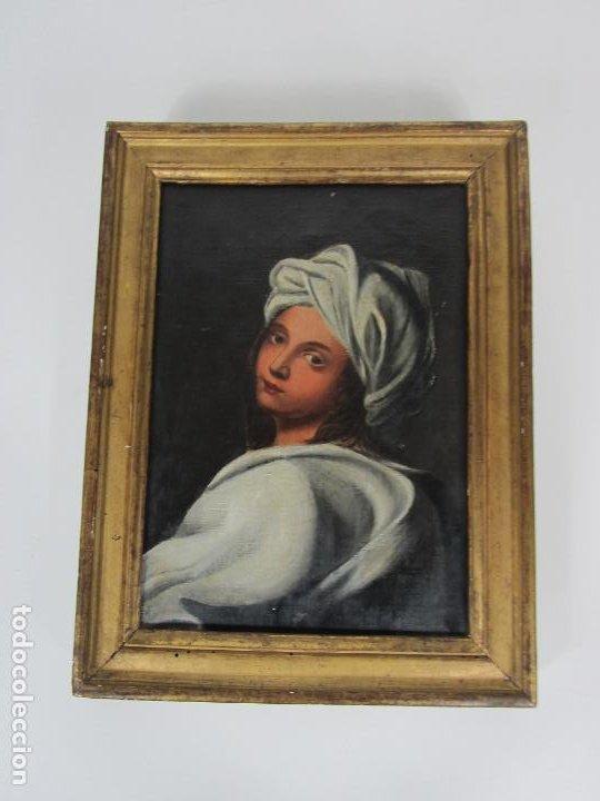 Arte: Retrato Beatrice Cenci - Guido Reni - Óleo sobre Tela - Proviene del Castillo de San Denis, Francia - Foto 8 - 221984443