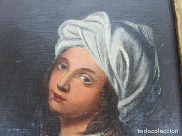 Arte: Retrato Beatrice Cenci - Guido Reni - Óleo sobre Tela - Proviene del Castillo de San Denis, Francia - Foto 9 - 221984443