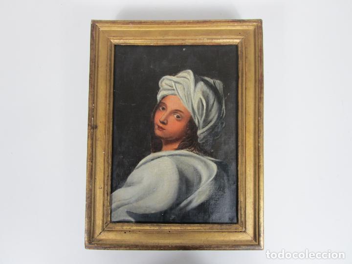Arte: Retrato Beatrice Cenci - Guido Reni - Óleo sobre Tela - Proviene del Castillo de San Denis, Francia - Foto 10 - 221984443