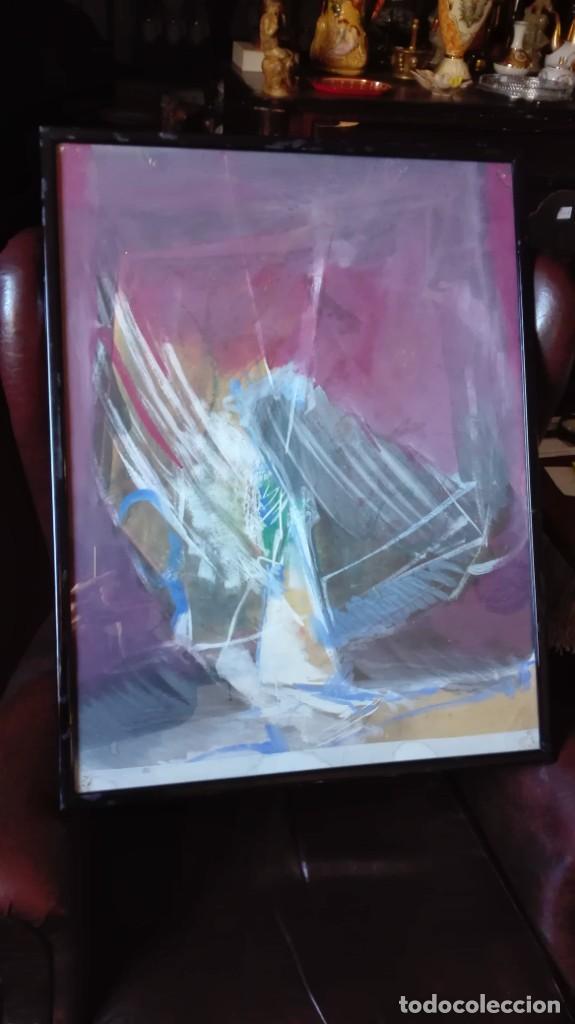 PÁJARO ABSTRACTO ÓLEO , ACRÍLICO O ACUARELA SOBRE PAPEL (Arte - Pintura - Pintura al Óleo Contemporánea )