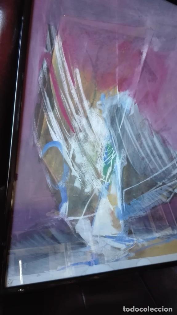 Arte: Pájaro abstracto óleo , acrílico o acuarela sobre papel - Foto 2 - 190121801