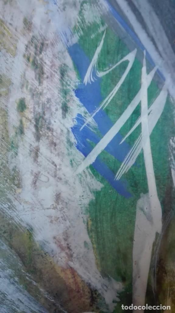 Arte: Pájaro abstracto óleo , acrílico o acuarela sobre papel - Foto 3 - 190121801
