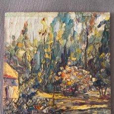 Arte: ÓLEO SOBRE TABLA , FIRMADO , PAISAJE. Lote 139060934