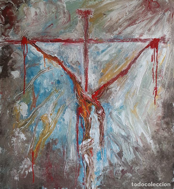 CRUCIFIXION (Arte - Pintura - Pintura al Óleo Contemporánea )