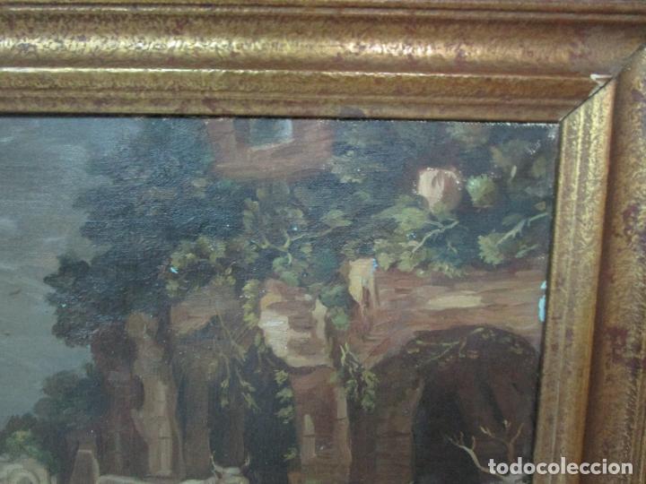 Arte: Antigua Pintura - Escuela Flamenca - Paisaje con Ganado, Reflejos de Sol - S. XVIII - Foto 5 - 190149192